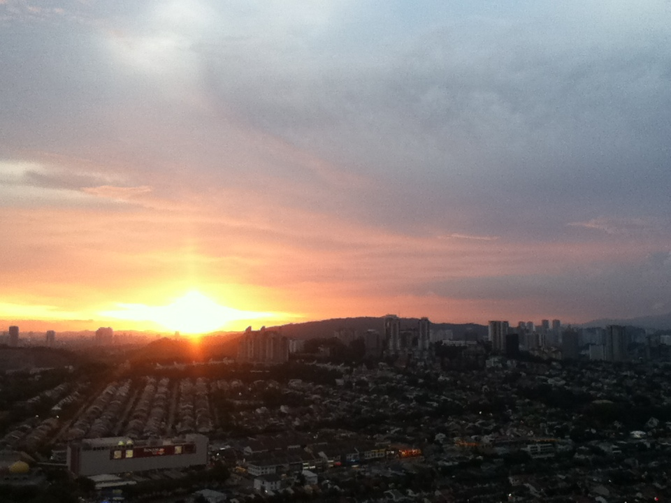 You might watch the sunset from the 39th floor.
