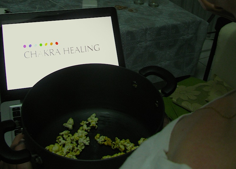 You might have to watch Chakra Healing for 8 hours straight. Popcorn should ease the pain.